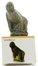 No.33 Gorilla Miniature Porcelain Figurine Picture Box Whimsies by Wade