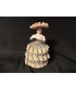 Royal Japan Handpainted Dresden Lady Figure Lace - $12.49