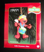 Carlton Cards Heirloom Christmas Ornament 2000 Little Drummer Elmo Sesame Street - $13.99