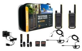 Pair Walkie Talkie Motorola T82+Charger+Headphones+Suitcase Of Transport... - $107.42