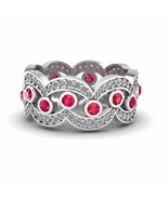Jbr Traditional Tear Drop Women's Stacking Band In Sterling Silver - $100.04