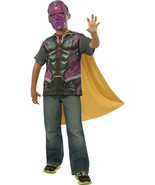 Marvel Avengers Age of Ultron Vision Shirt, Mask & Cape Costume, Boys LG 12-14 - $19.79