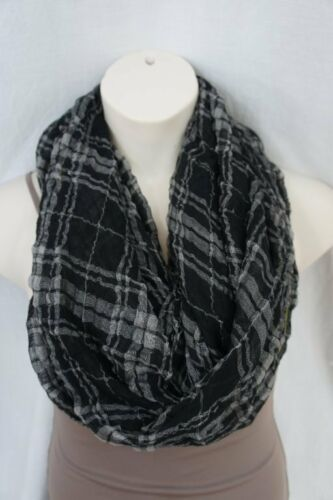 Primary image for Echo Design Infinity Loop Black Yellow Plaid Viscose Blend Weave Cowl Scarf