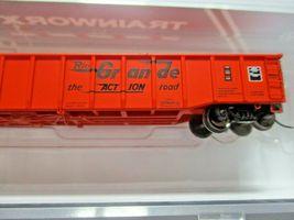 Trainworx Stock # 25201-23 to -24  Rio Grande Orange Paint Scheme 52' Gondola (N image 3