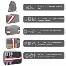 Packing Cubes for Travel Set 5Pcs, YAMTION Mesh Luggage Cubes Organizers - $422,78 MXN