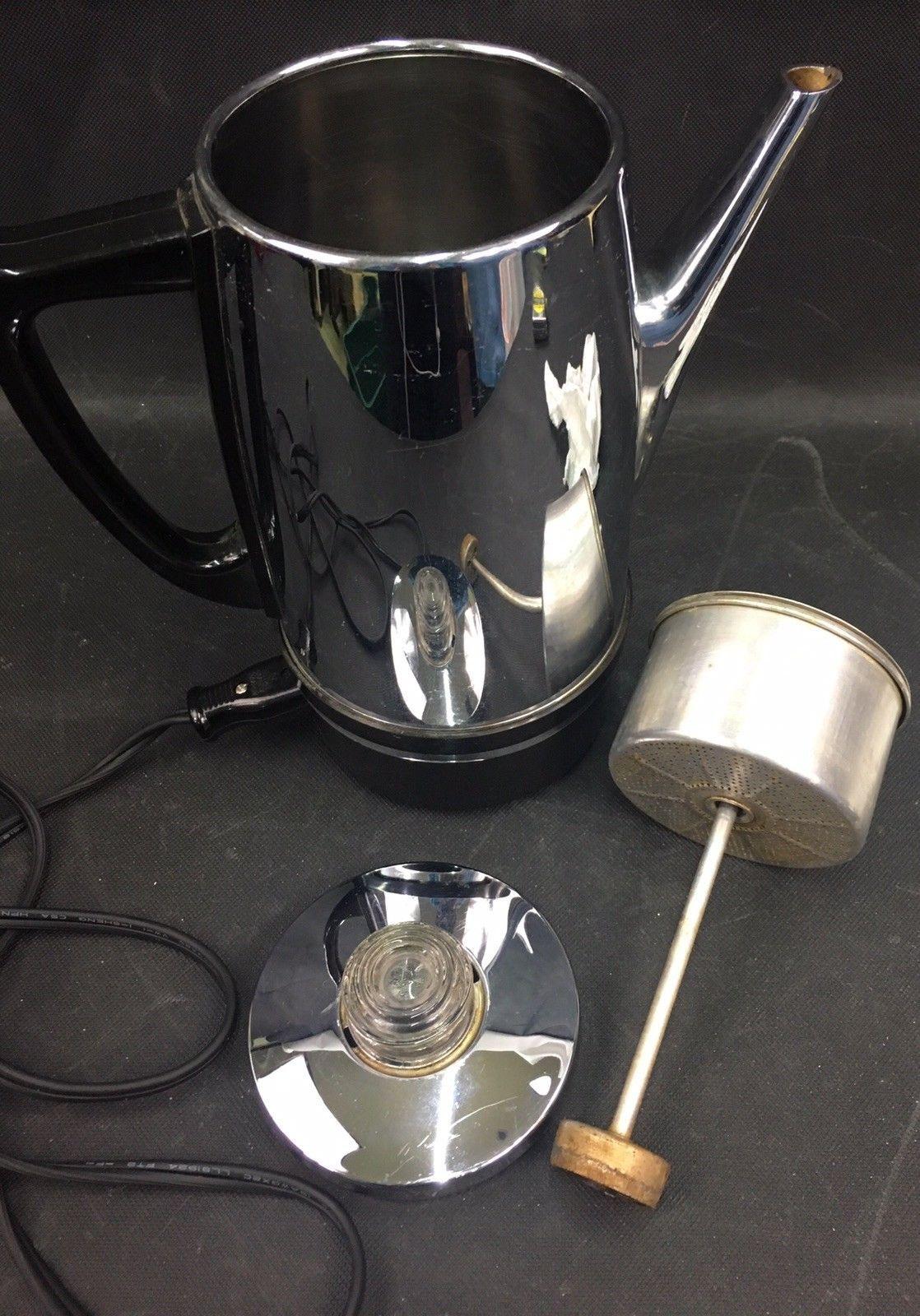 Vintage Stainless Westinghouse Electric Coffee Perculator # HP35-1  WORKS!!