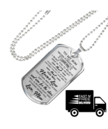 Great Mother To Son Luxury Gift Dog Tags From Mom Mommy Mama Birthday Pr... - $29.65+