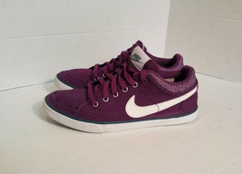 Nike Canvas Sneakers Womens Size 8 Skate Shoes Purple - $9.99