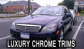 Mercedes C Class W204 Chrome Headlight Trim Bezels by Luxury Trims 2008-... - $89.09