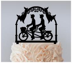 Gay Wedding,Cake topper,Cupcake topper,Romantic Bicycle Same Sex Gay : 11 pcs - $20.00