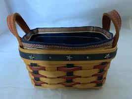 2003 Longaberger Collectors Club Salt and Pepper Basket Combo Patriotic ... - $24.30