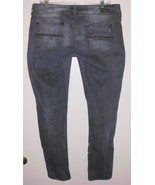 "DAVID BITTON Jeans 35"" Waist Women Low Rise Skinny Stretch Dark Blue DAGMAR - $26.72"