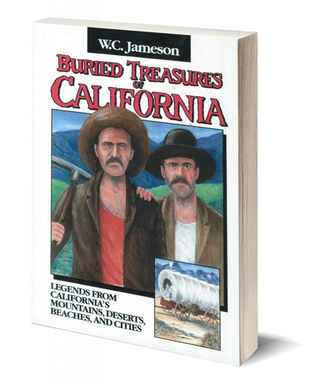 3d book cover buried treasures of california