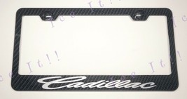 For Cadillac Real 3K Twill Weave 100% CARBON FIBER License Plate Frame Holder - $32.66