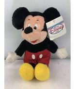Vintage Disney Mickey Mouse Plush Stuffed Animal Toy Black White Red Yel... - $14.03