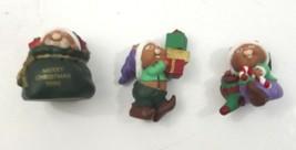 Hallmark 1996 Merry Miniatures Santas Helpers 3 Piece Set - $8.99