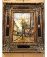 Wall Canvas Oil Painting With Crown Antique Gold Frame - Autumn - $3,959.99