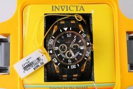 Invicta Pro Diver Model 23702 Black/Gold Wrist Watch Black Poly Strap 200M - NWT