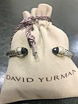 David Yurman Sterling Silver 14k Gold Black Onyx 5mm Cable Classic Bracelet - $274.99