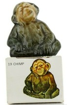 No.19 Chimp Miniature Animal Porcelain Figurine Picture Box Whimsies by Wade