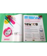 YOU DESIGN A HOT PRESS COVER Absolut Vodka Magazine Ad from Ireland 2pp - $6.99
