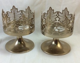 Bath and Body Works 3-Wicks Candle Holder, Leaves Shaped, Metal Bronze Tone.  - $12.50