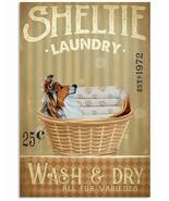 VibesPrints Laundry Shetland Sheepdog Poster Art Print Decor Gift For Do... - $25.59+