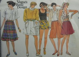 Vogue 1549 Misses 14 Shorts Pleated waistband mock fly pockets cuffs Uncut - $13.45