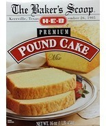 The Baker's Scoop HEB Premium Pound Cake Mix 16 Oz (Pack of 3) - $24.99