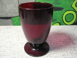 Footed Tumbler Royal Ruby Anchor Hocking Iced Tea Glass - $12.25