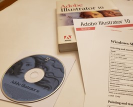 Adobe Illustrator 10 for Windows full version with Book, Quick Reference - $129.00