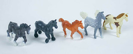 SAFARI LTD LOT 5 MINI HORSES FIGURES CLYDESDALE BAY JUTLAND BARD WALKING... - $8.21