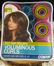 Conair SELF-GRIP ROLLERS VOLUMINOUS CURLS Assorted 31 Count SMOOTH HAIR - $9.11