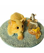 Cat Kitten figurine vtg kitty sculpture Munro after party Ginger uninvit... - $94.05