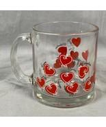 Valentine's Day Hearts Romance Love Kisses Hugs Glass Coffee Mug Cup Mad... - $15.83