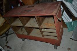 Antique CAST IRON Industrial Steampunk  Bar Liquor cabinet Vtg - $974.74