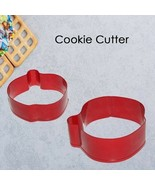 Cookie Cutter Apple Shaped Fruit Tin Plated Pure Biscuit Mold Baking 1pc... - $7.56