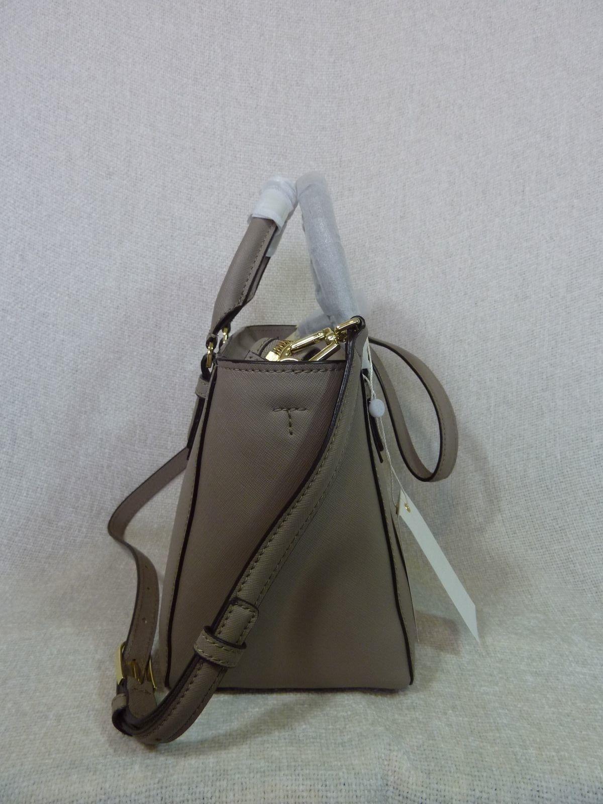 NWT Tory Burch French Gray Saffiano Leather Robinson Mini Square Tote image 4