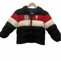 U.S. Polo Assn. 5/6 red white blue hooded puffer jacket youth - $17.31