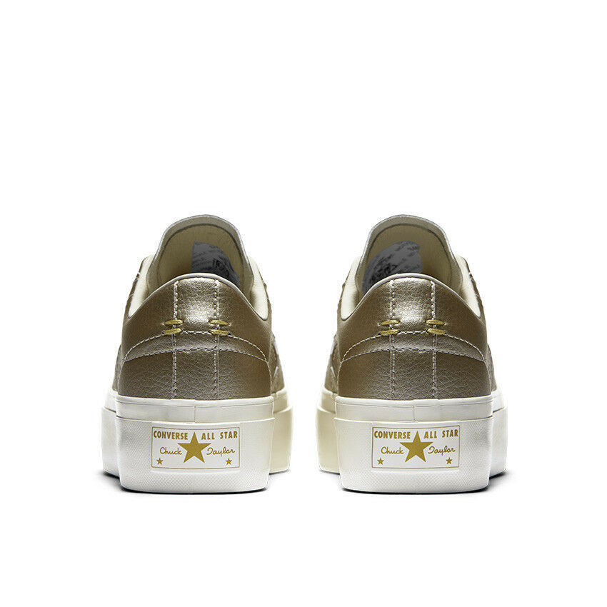 Women's Converse One Star Platform Ox Low Top, 559924C Multi Sizes Light Gold/EG