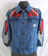 Navajo one of a kind Customized Levis Denim Jacket / Ladies - $536.13