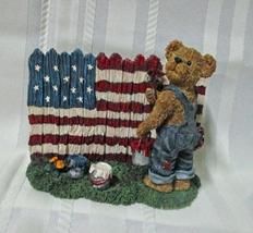 Boyds Bears Bearstones Tommy Bearyproud God Bless America Figurine 2004 - $9.95