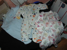3 Sleepers & 4 Gowns-3 Mos-All Girls But 1 Blue Sleeper W/Cars is Boys---70 - $5.50