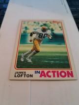 1982 topps james lofton - $1.50