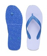 Paragon Casual Blue & White Rubber Flip Flops (Chappal) Choose From 5 Sizes - $12.81