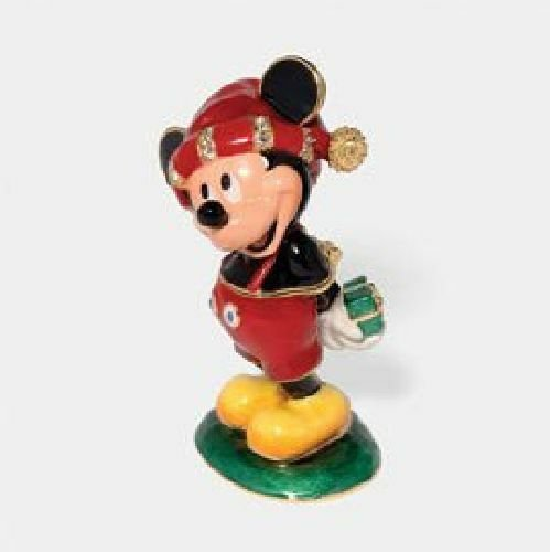 Primary image for Department 56 Disney Showcase Merry Christmas From Mickey Jeweled Box