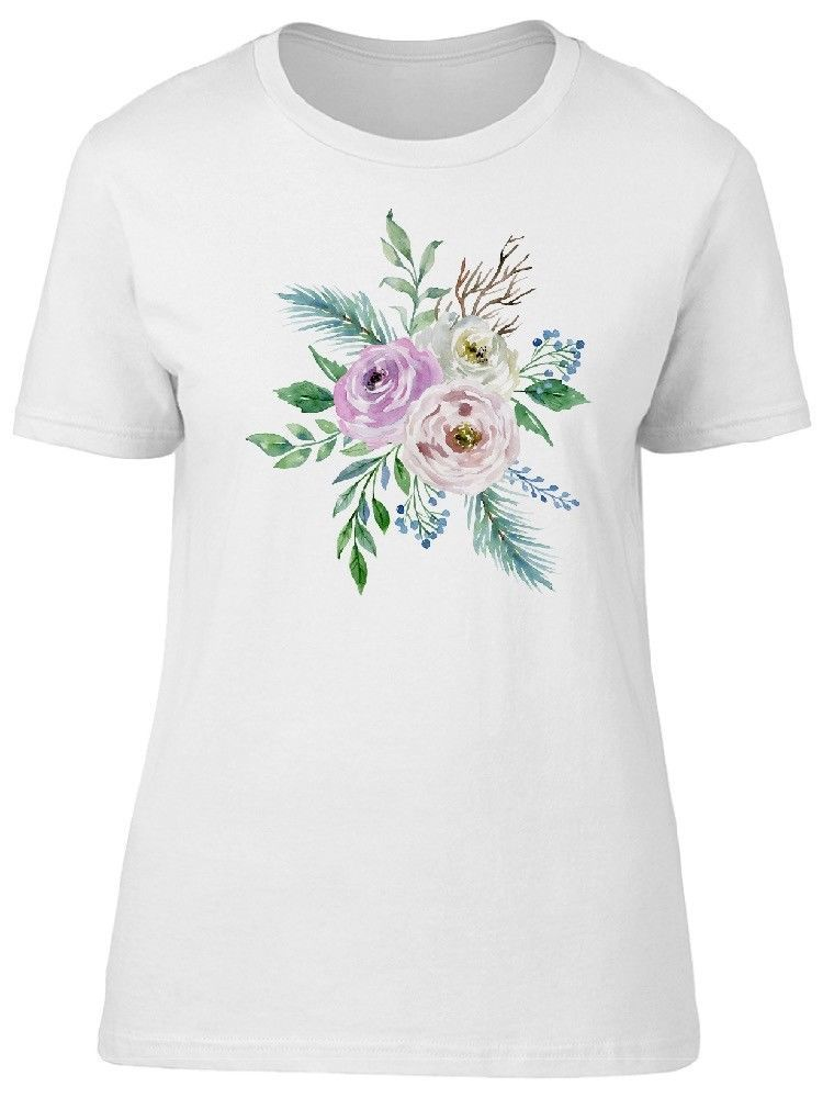 Primary image for Watercolor Flowers And Twigs Women's Tee -Image by Shutterstock