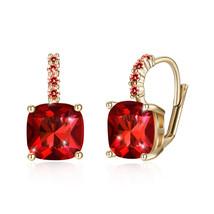 Women Crystal Bella  Ruby Stud Earrings Made with SWAROVSKI® Crystals - $9.79