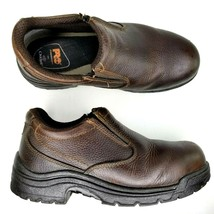 Timberland Pro Titan Safety Toe Slip On Leather Shoes Mens Size 8 W Brow... - $99.42 CAD