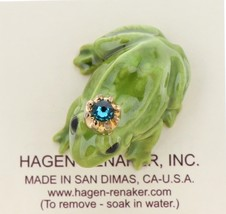 Hagen-Renaker Miniature Ceramic Frog Figurine Birthstone Prince 12 December image 3
